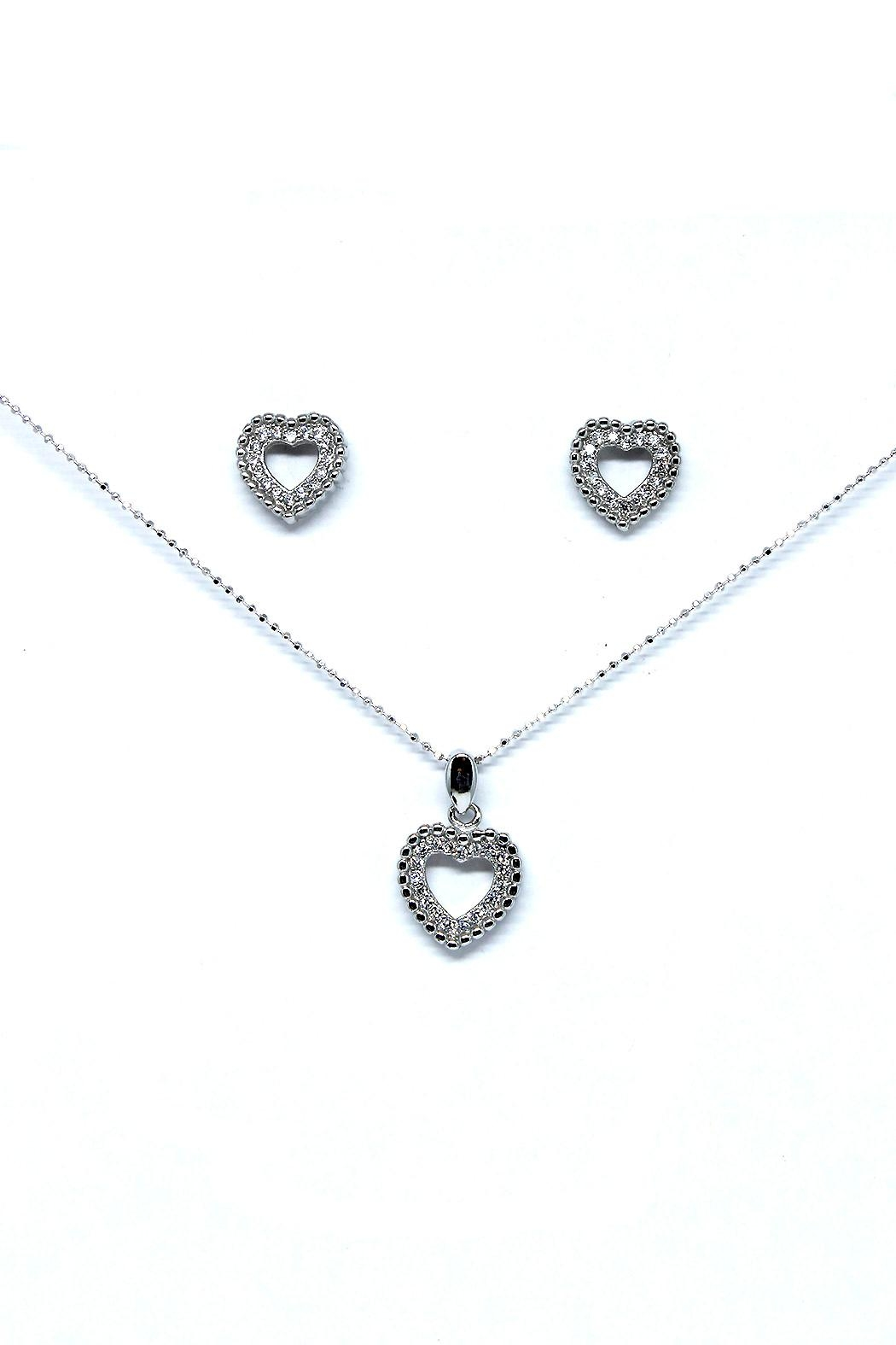 TINK TINK Heart Silver Necklace Set - Main Image