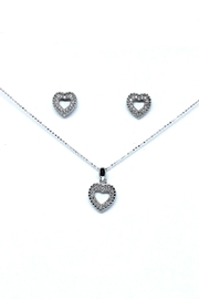 TINK TINK Heart Silver Necklace Set - Front cropped