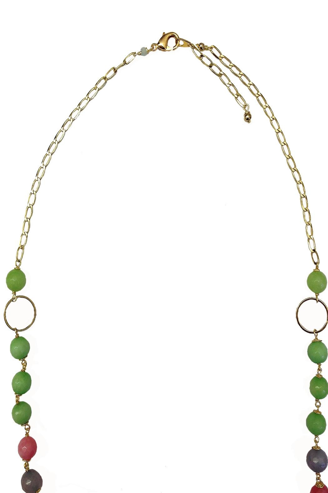 TINK TINK Jade & Crystal Necklace - Front Full Image
