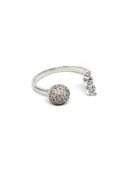 TINK TINK Open Silver Ring - Front cropped