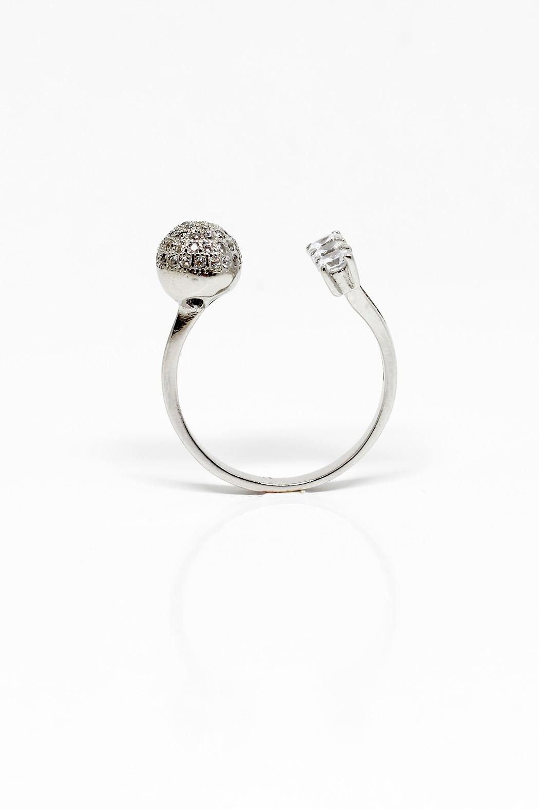 TINK TINK Open Silver Ring - Front Full Image