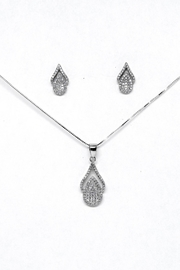 TINK TINK Oval Silver Necklace Set - Front cropped
