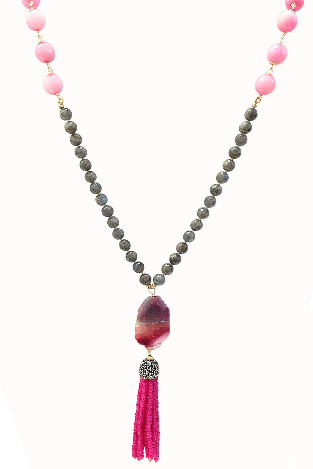TINK TINK Pink Stone Necklace - Main Image