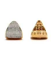 TINK TINK Reversible Gold Plated Earrings - Front full body