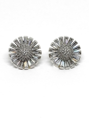 TINK TINK Rhodium Flowers Stud Earrings - Front cropped