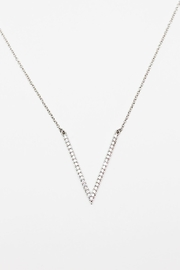 TINK TINK Rhodium Necklace & Zirconia - Front cropped