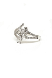TINK TINK Rhodium Ring - Front cropped