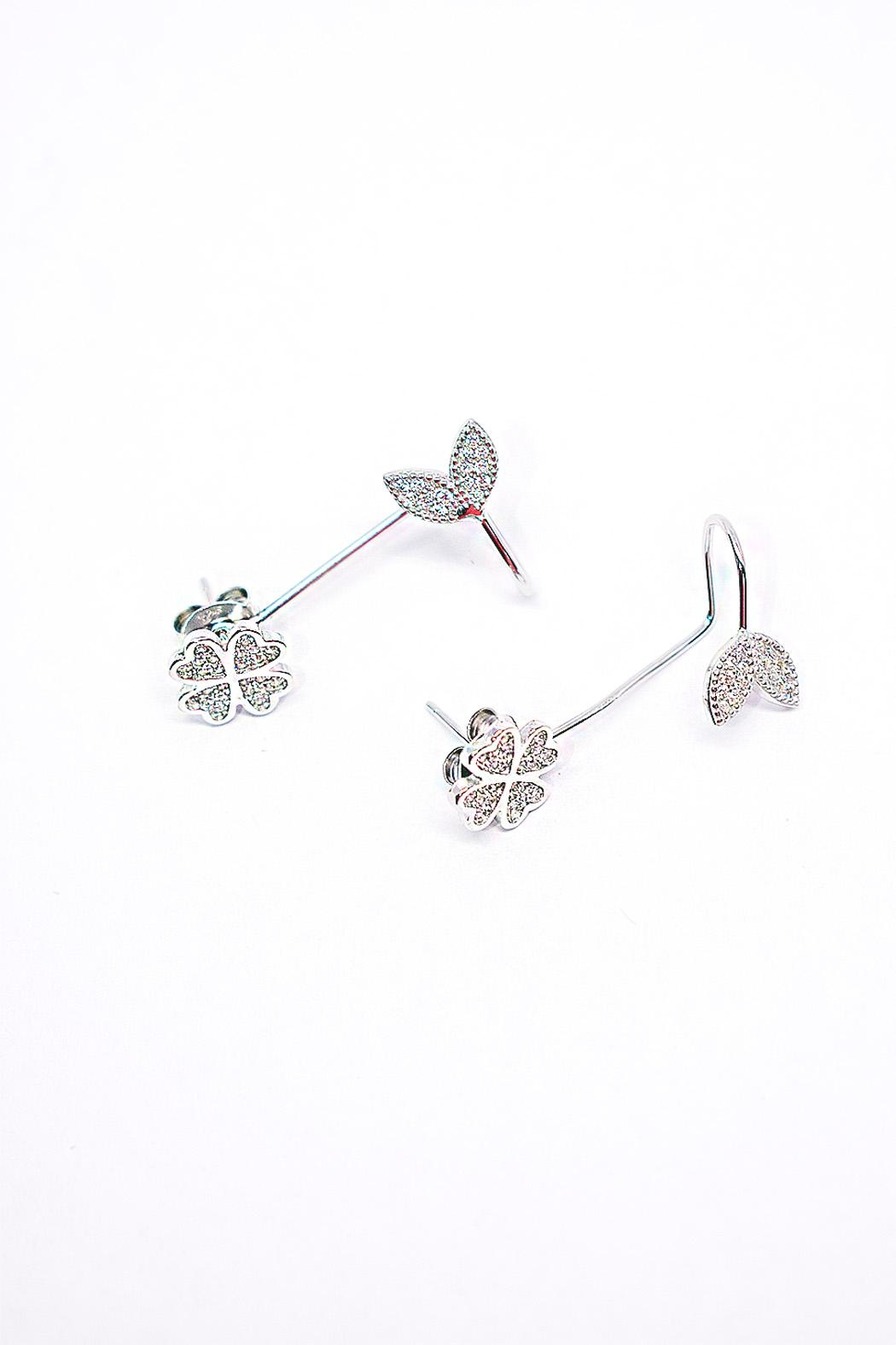 TINK TINK Silver Cuff Earrings - Main Image