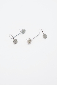 Shoptiques Product: Silver Cuff Earrings