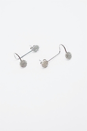 TINK TINK Silver Cuff Earrings - Front cropped
