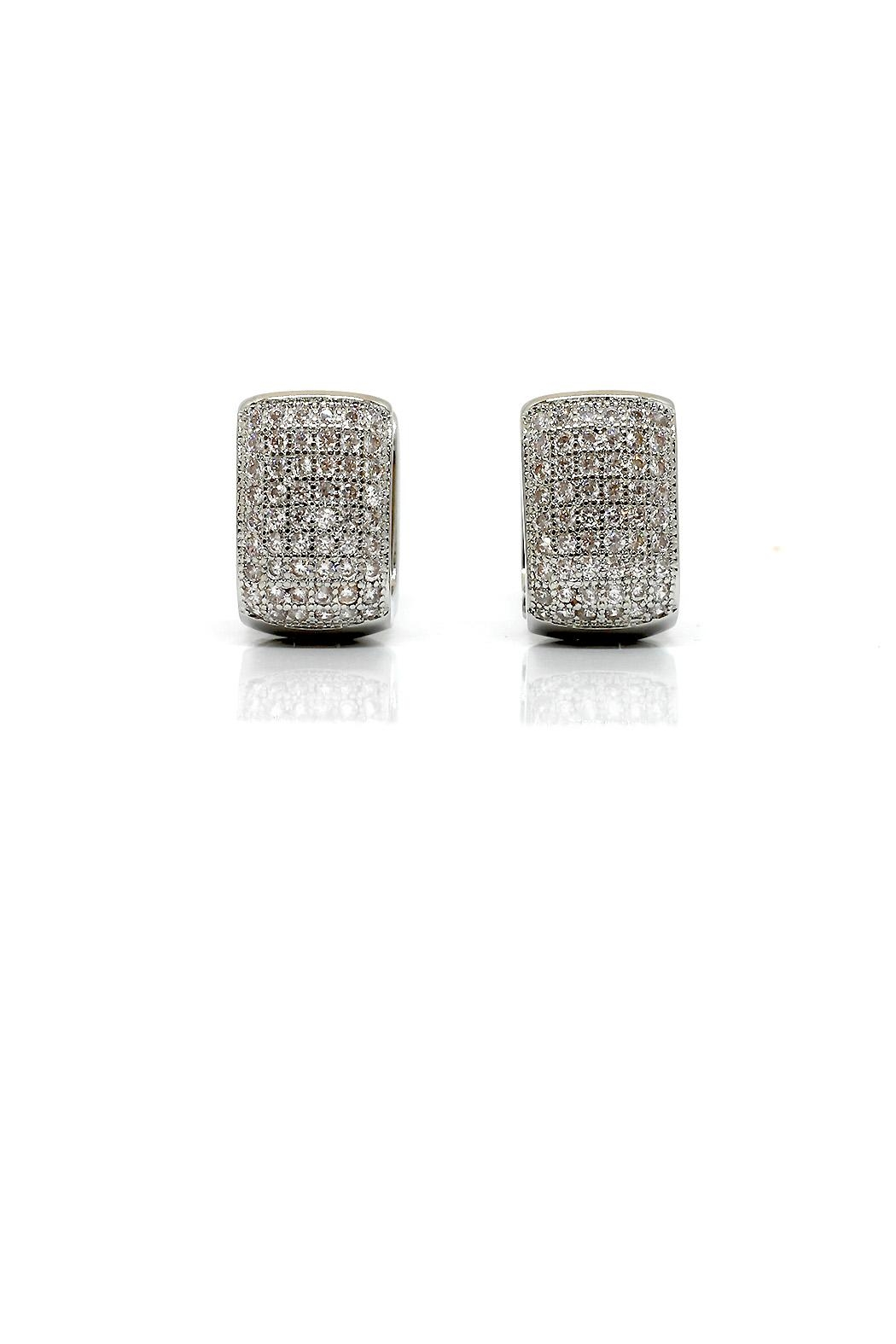 TINK TINK Square Huggie Earrings - Main Image