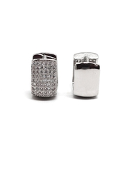TINK TINK Square Huggie Earrings - Front full body