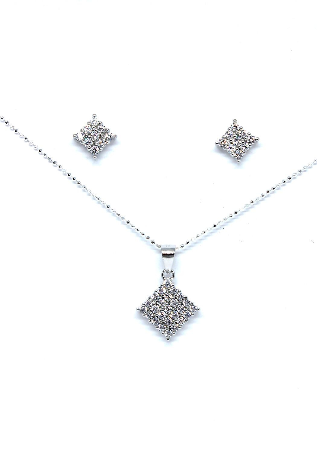 TINK TINK Square Silver Necklace Set - Main Image