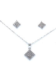 TINK TINK Square Silver Necklace Set - Front cropped