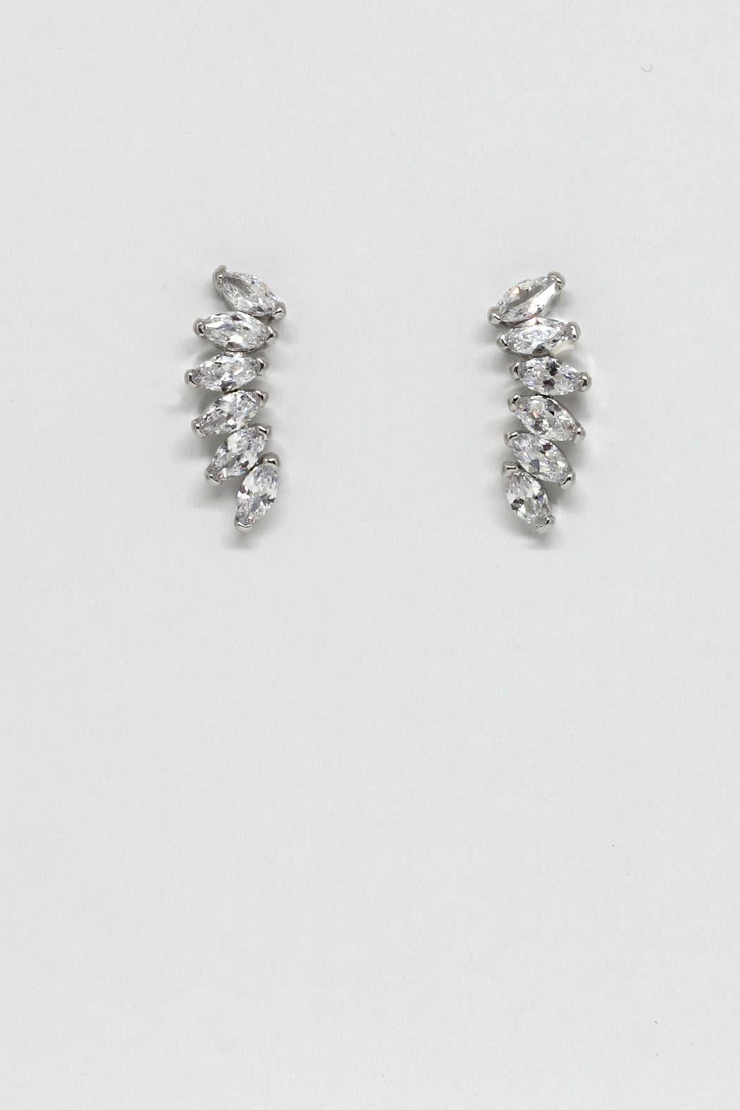 TINK TINK Stylish Rhodium Earrings - Main Image