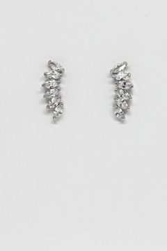 TINK TINK Stylish Rhodium Earrings - Alternate List Image