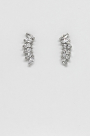 TINK TINK Stylish Rhodium Earrings - Front cropped