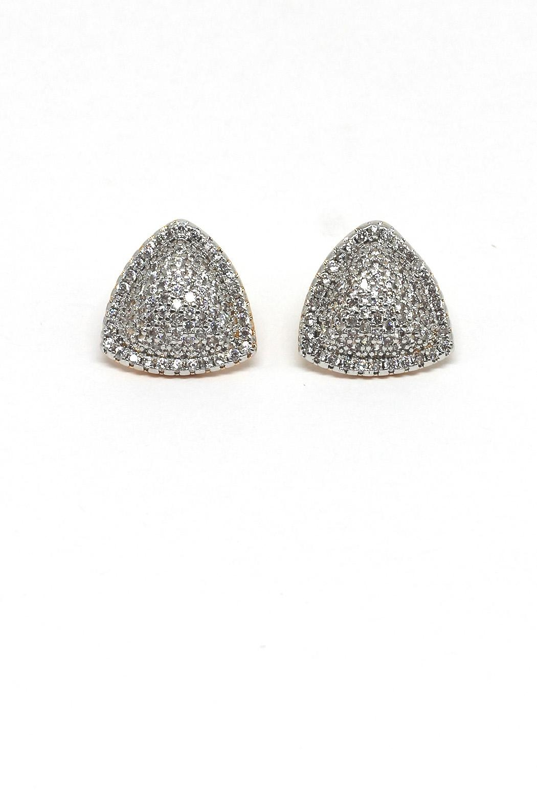TINK TINK Triangular Gold Plated Earrings - Main Image