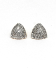 TINK TINK Triangular Gold Plated Earrings - Front cropped