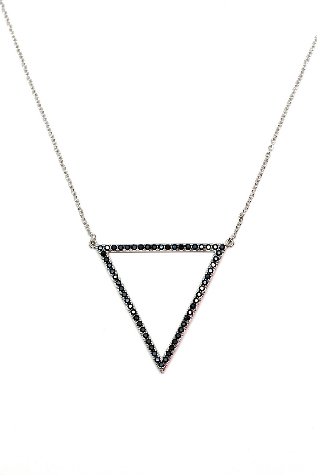 TINK TINK Triangular Rhodium Necklace - Main Image