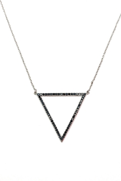 TINK TINK Triangular Rhodium Necklace - Product List Image
