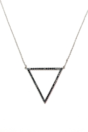 TINK TINK Triangular Rhodium Necklace - Front cropped