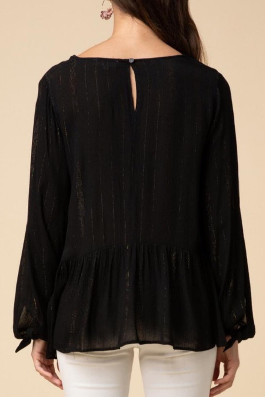 Entro Tinsel Threaded Blouse - Front Full Image