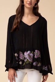 Entro Tinsel Threaded Blouse - Front cropped