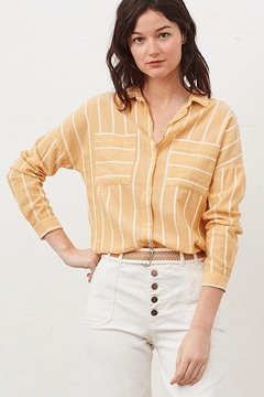 Tinsels Mirtha Pause Top In Soleil - Product List Image