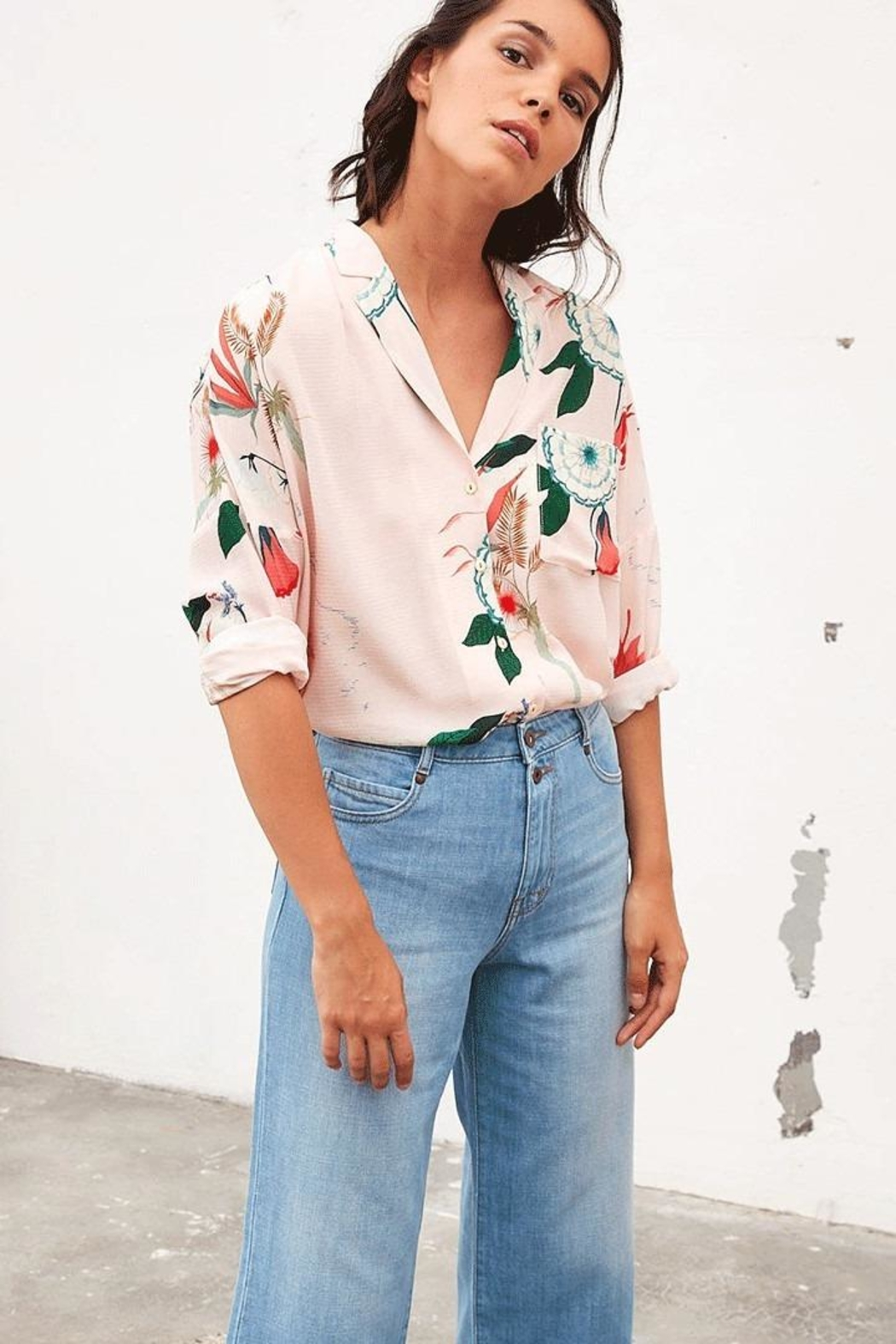 Tinsels Orla Post Card Top In Rose - Main Image