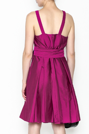 Tintoretto Purple Dress - Back cropped