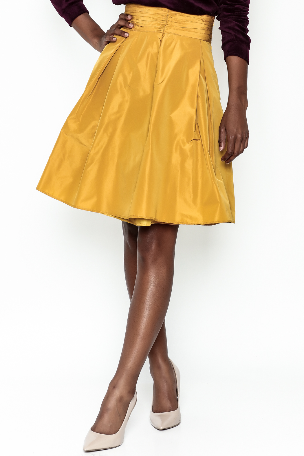 Tintoretto Silk Skirt - Front Cropped Image