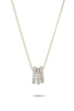 Shoptiques Product: Tiny 3-Pave-Beads Necklace