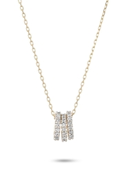 Adina Reyter Tiny 3-Pave-Beads Necklace - Product Mini Image