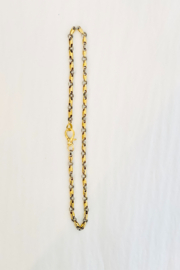 The Woods Fine Jewelry  Tiny Brass and Silver Link Chain - Product Mini Image