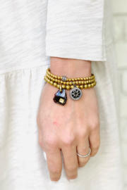 The Woods Fine Jewelry  Tiny Brass with Black Stone - Product Mini Image
