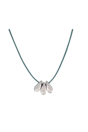 Bronwen Tiny Charm 3 Petal Necklace - Product Mini Image