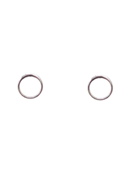Bronwen Tiny Charm Circle Of Life Post Earrings - Front cropped