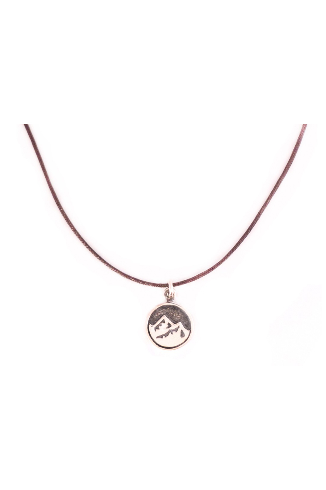 Bronwen Tiny Charm Mountain Necklace - Front Cropped Image