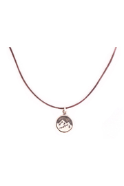 Bronwen Tiny Charm Mountain Necklace - Front cropped