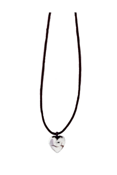 Bronwen Petite B Puffy Heart Necklace - Product List Image