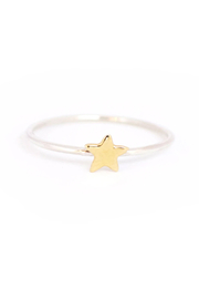 Bronwen Tiny Charm Ring - Mixed Metal Star - Product Mini Image