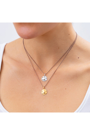 Bronwen Tiny Charm Sand Dollar Necklace - Front full body