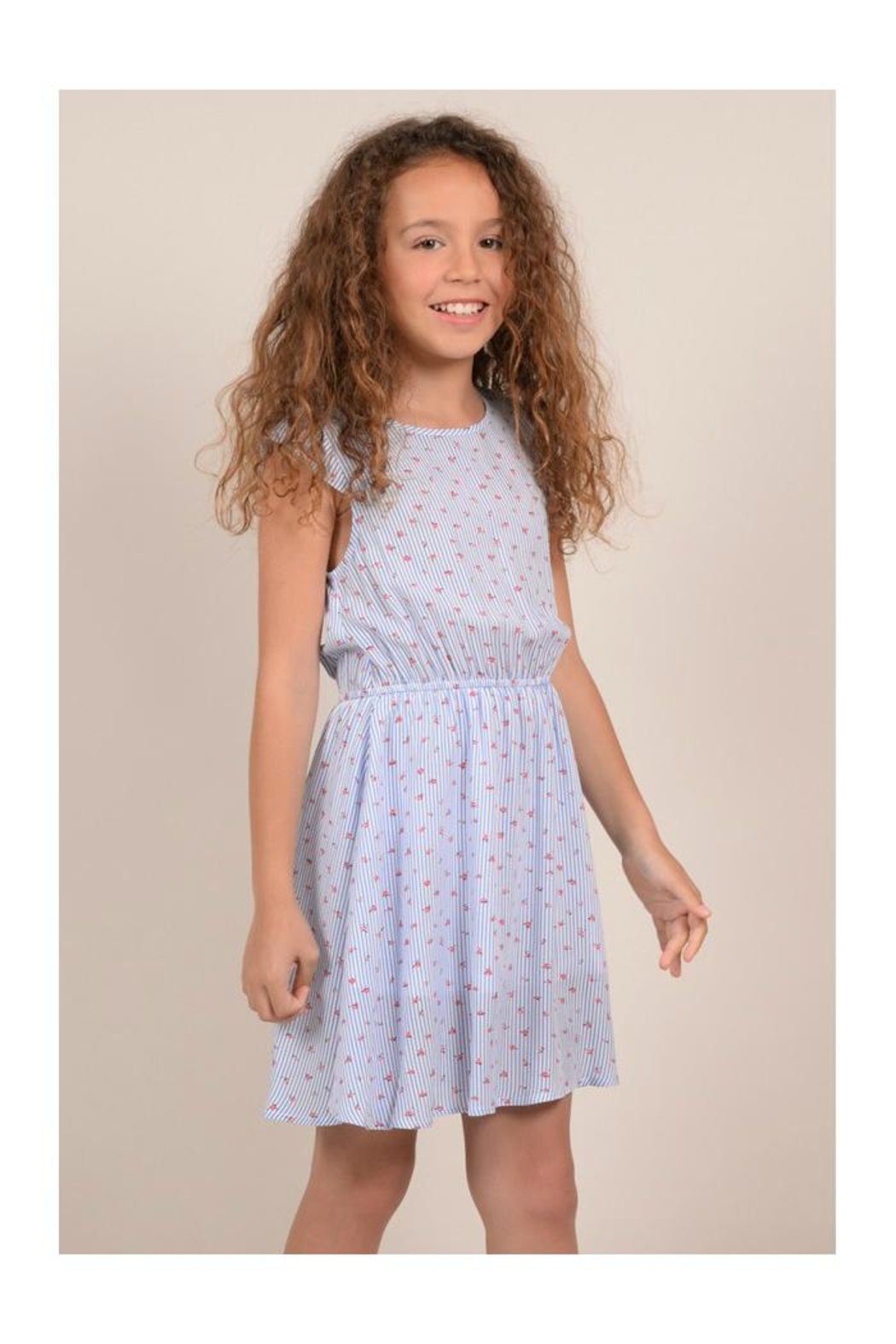 Mini Molly Tiny Flower Dress - Side Cropped Image