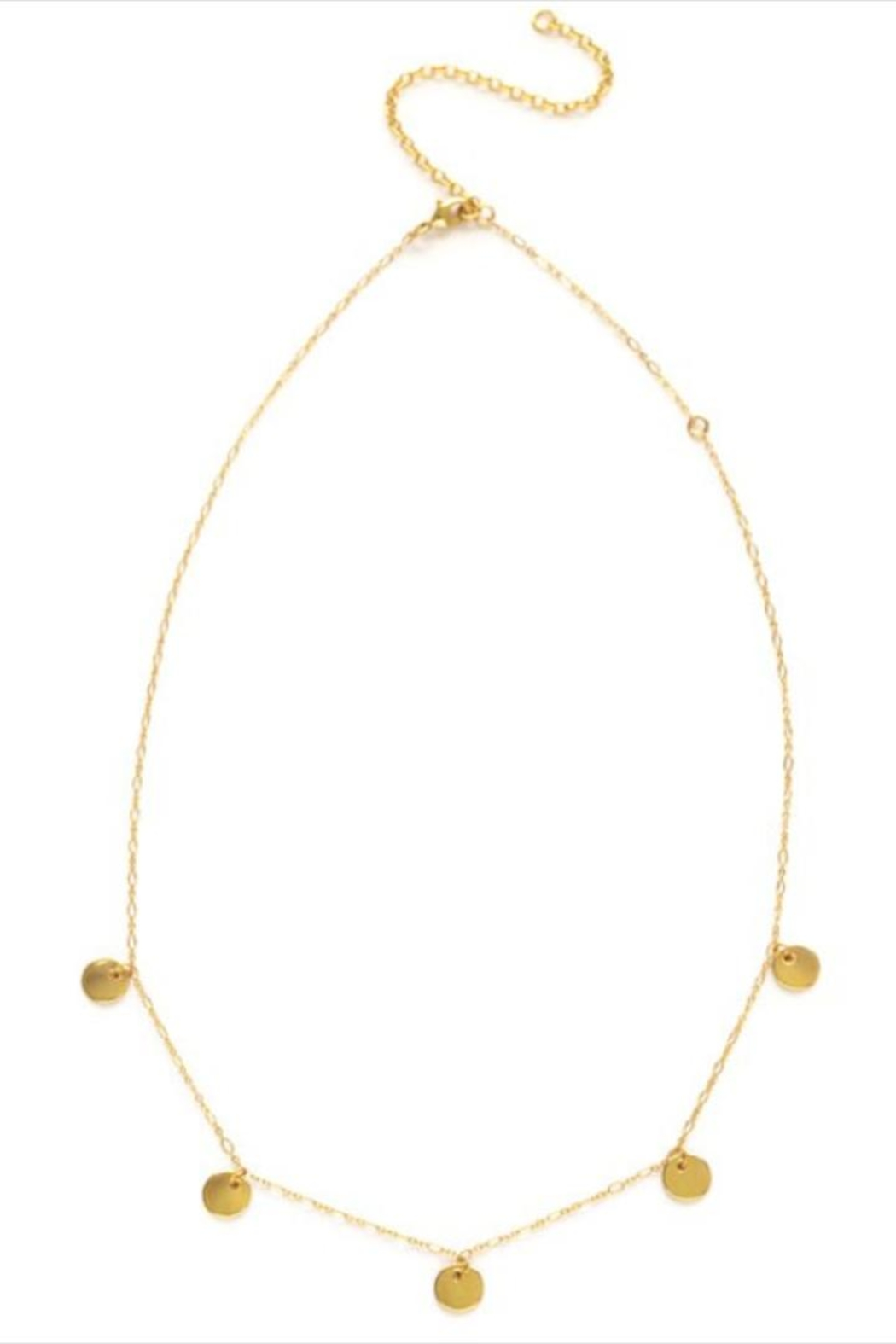Amano Trading Tiny Gold-Disks Necklace - Front Full Image