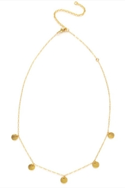 Amano Trading Tiny Gold-Disks Necklace - Front full body
