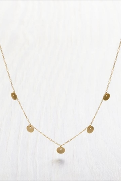 Shoptiques Product: Tiny Gold-Disks Necklace