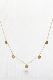 Amano Trading Tiny Gold-Disks Necklace - Front cropped
