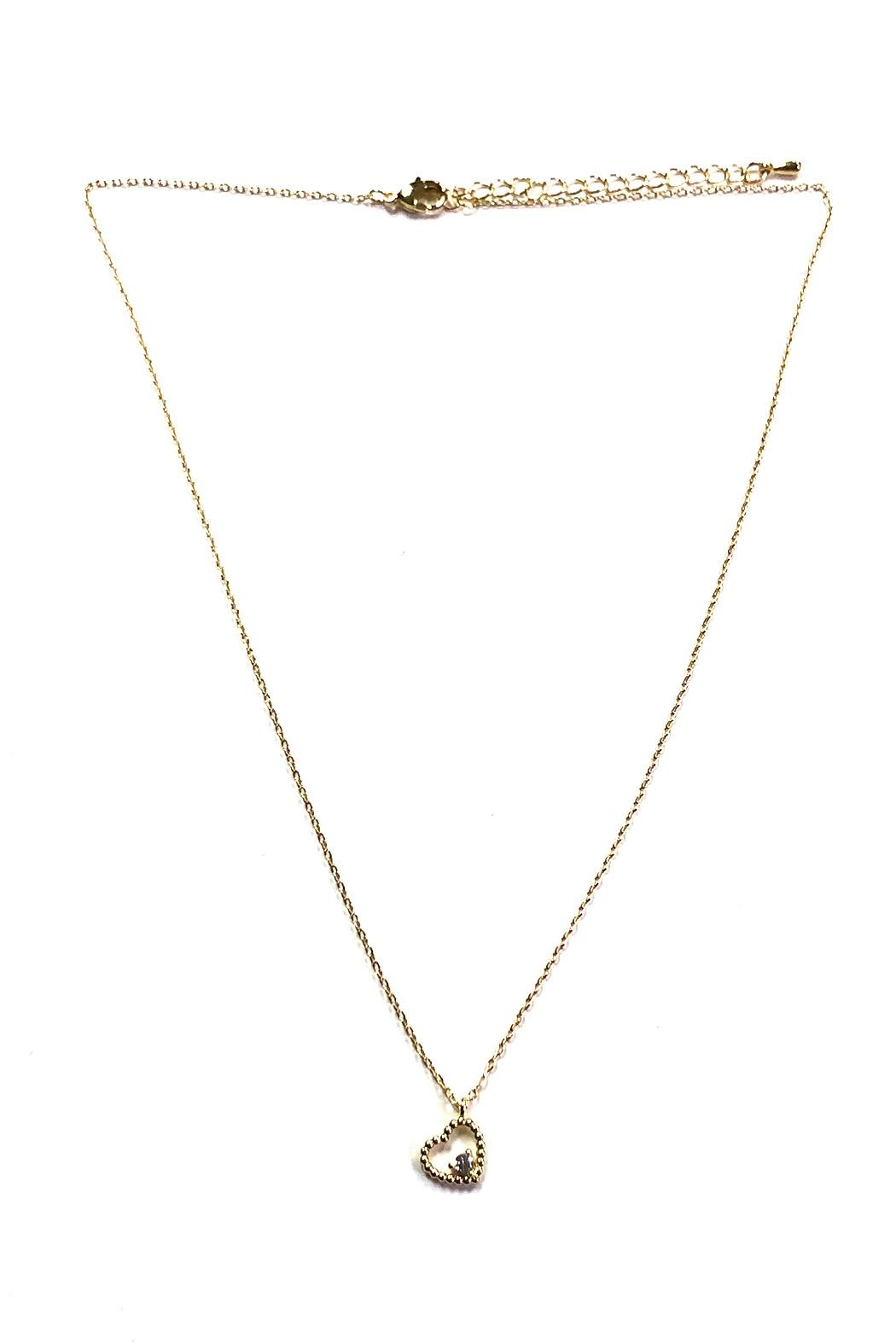 OMG Blings Tiny Heart-Charm Necklace - Front Cropped Image