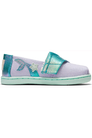 TOMS Tiny Lavender Blue Canvas Iridescent Snake - Front cropped
